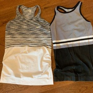 Two Athleta tanks in perfect condition.